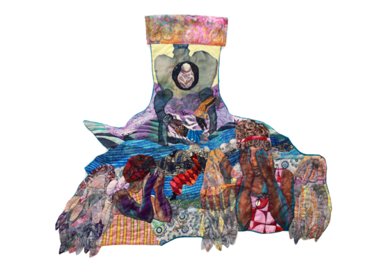 'The Angels Cried: As They Knew it was Never Only', textile and mixed media 2018