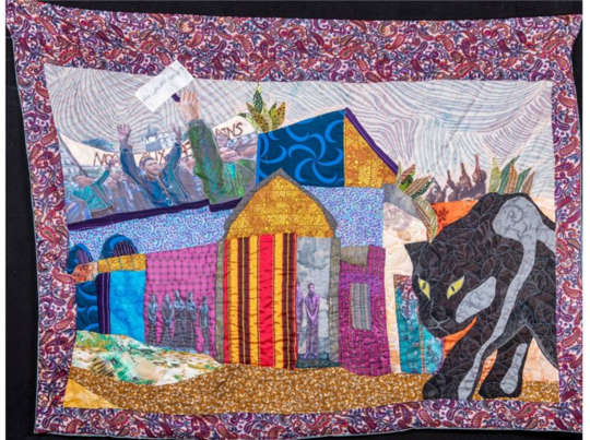 'They Forgot that Long Ago There was a Panther', textile and mixed media 2018