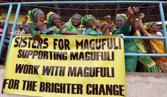 Sisters for Magufuli celebrate President Magufuli's inauguration. Photo/GCIS