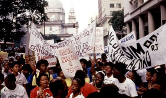 May 12, 1988 protest against discrimination, exclusion and problems faced by Afro Brazilians. Silvio Viegas/Ag. O Globo via Memorial da Democracia
