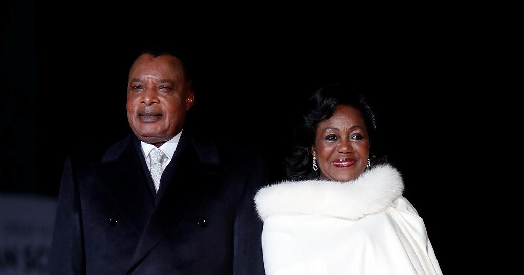 President of Congo Brazzaville, His Excellency Denis Sassou Nguesso and First Lady Antoinette Sassou Nguesso. Photo credit: Getty Images