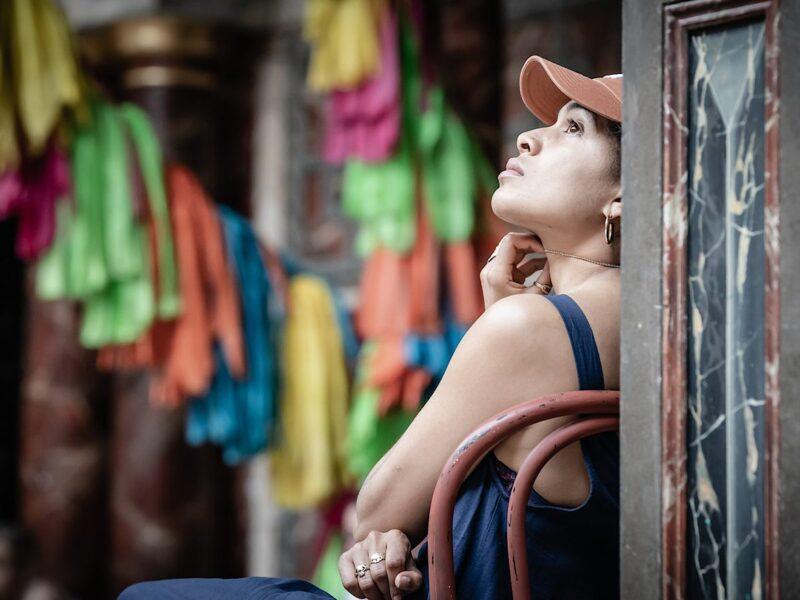 Rebekah Murrell as Juliet in rehearsals for Romeo & Juliet, Globe Theatre, Shakespeare's Globe, 2021. Photographer: Marc Brenner